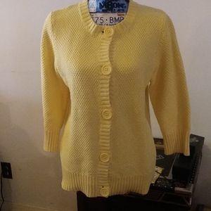 L.L.Bean heavy yellow sweater